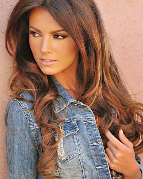 20 Stunning Vibrant Hues For Chocolate Brown Hair