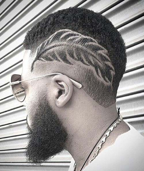 faded haircuts for black men
