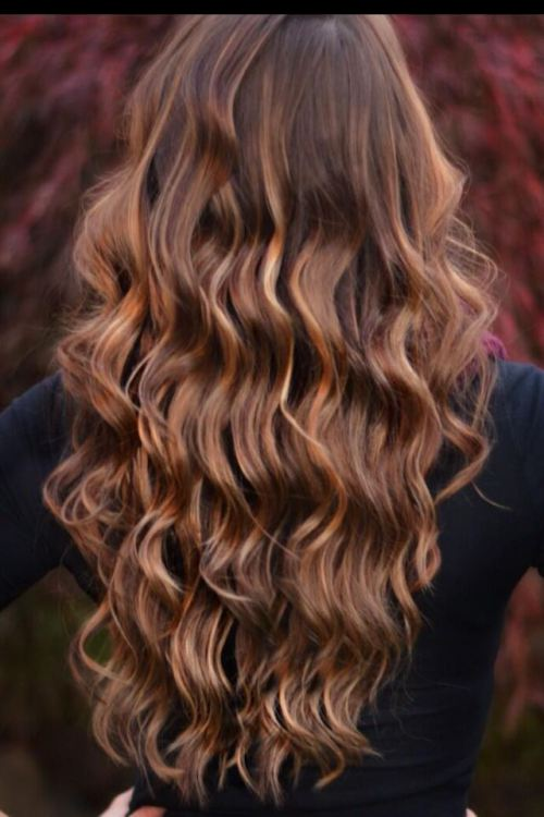 Brown Hair With Caramel Highlights Flow