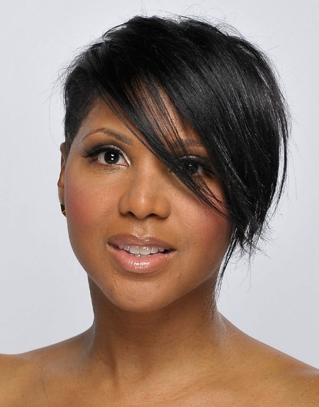 All in front short black hairstyles 2016
