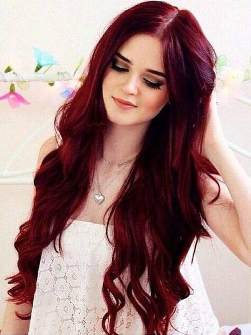 cherry-red blonde hair color ideas for women