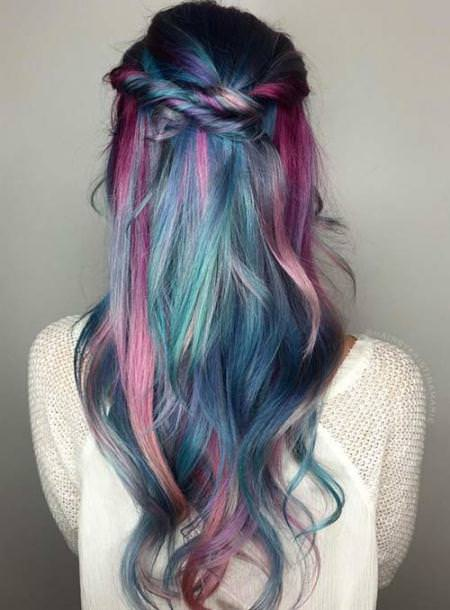 mermaid balayage ombre best two tone hairstyles for women