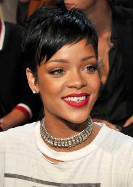 platinum pixie short black hairstyles 2016