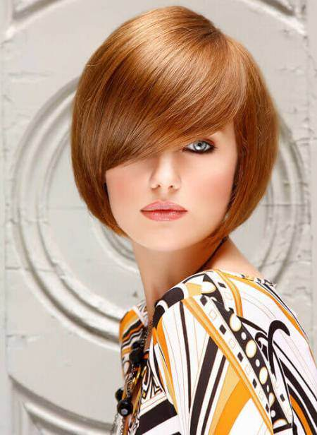rounded bob with fancy bangs