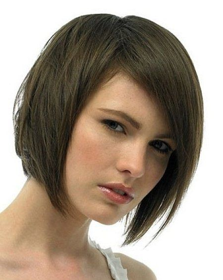rounded bob with thick side fringes short bob hairstyles 2016