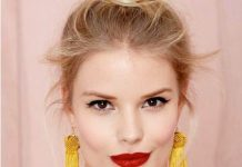 bedhead chic look knot hairstyles