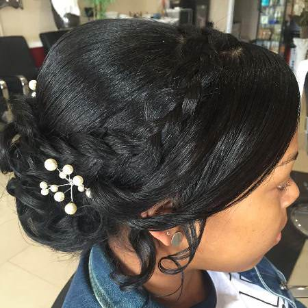 20 gorgeous black wedding hairstyles. Best gorgeous black wedding hairstyles. Top glam and gorgeous black wedding hairstyles.