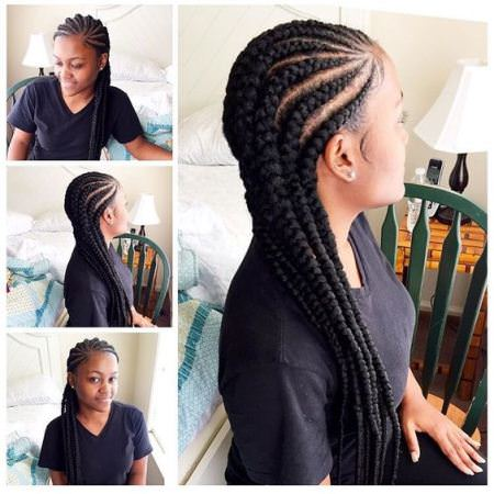 chunky-cornows captivating long hairstyles for black women