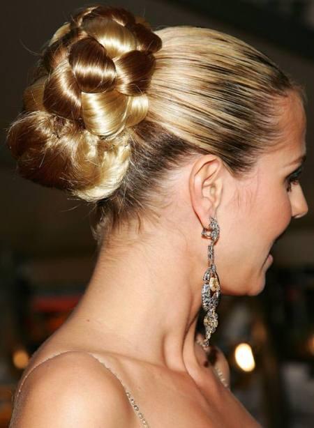 dark root knot hairstyles