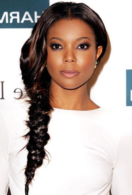 fishtail-braided captivating long hairstyles for black women