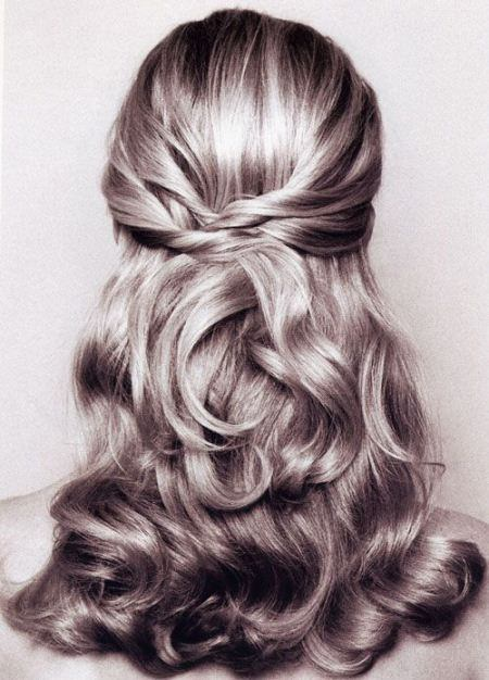 half up and half down hairstyles for medium hair