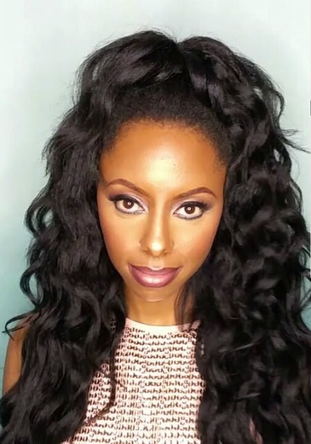 high-half-ponytail-weave captivating long hairstyles for black women