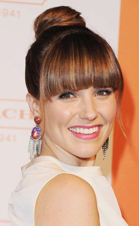 knot with blunt bangs knot hairstyles