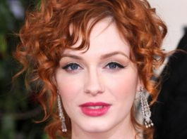 pinned red spirals short wavy hairstyles