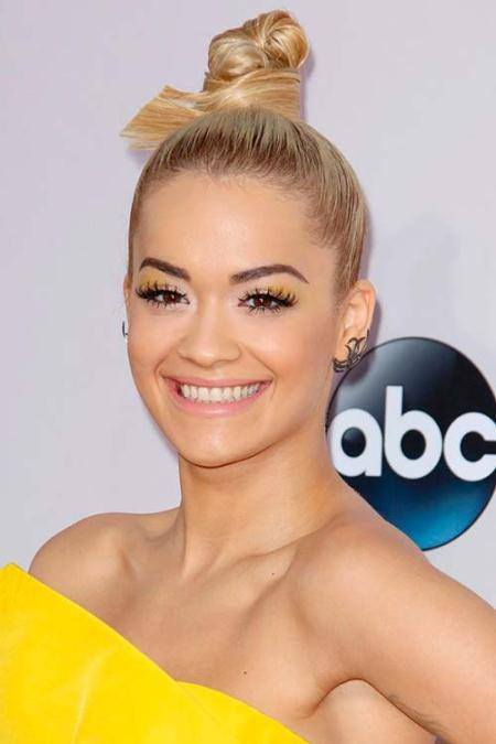 polished top knot hairstyles