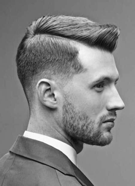 pompadour short men hairstyle