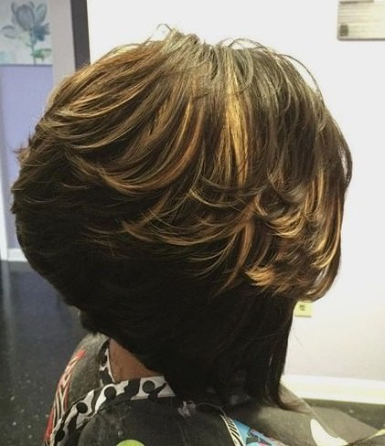 a line modern shag haircut