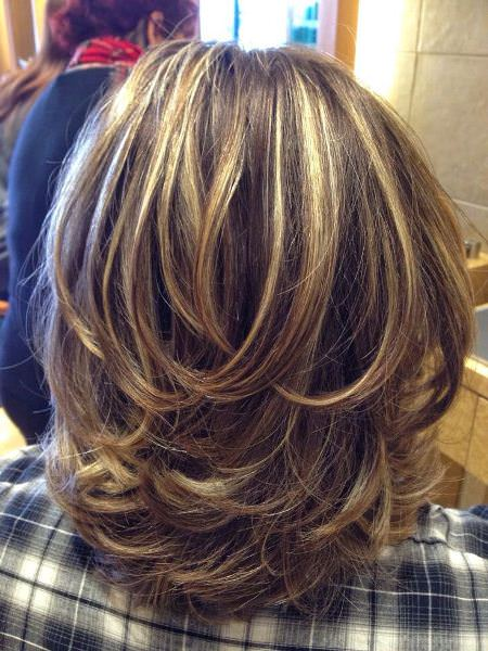 Allover layers for medium haircuts