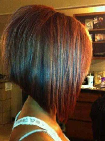 Angled short cut hairstyles for thick hair