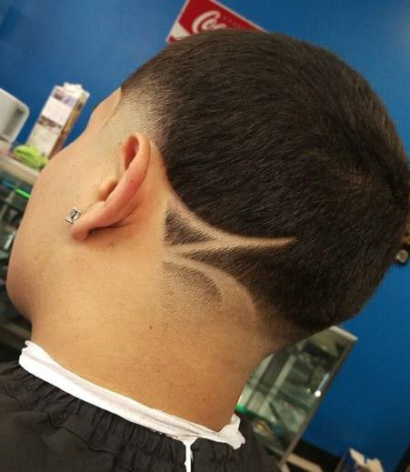 Asymmetrical variations of buzz cuts different length