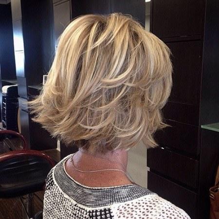 Bouncy bob haircuts for women over 50