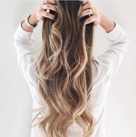 Brilliant balayage winter hair color