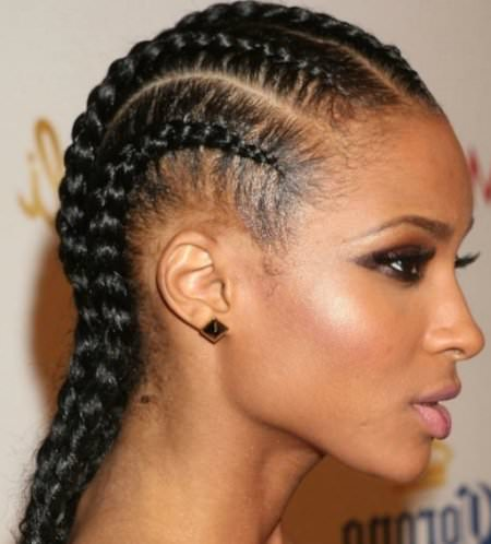 corn row natural hairstyles