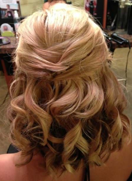 Criss cross wedding hairstyles for short hair