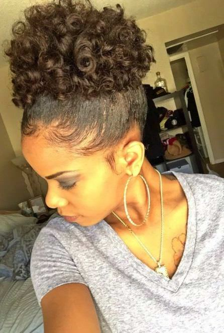 Curly afro with edges natural curly hairstyles
