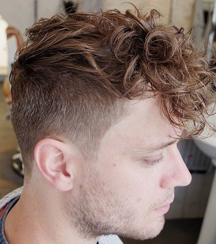 Curly fauxhawk haircuts for men