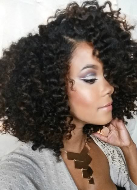 Flat twist out natural curly hairstyles