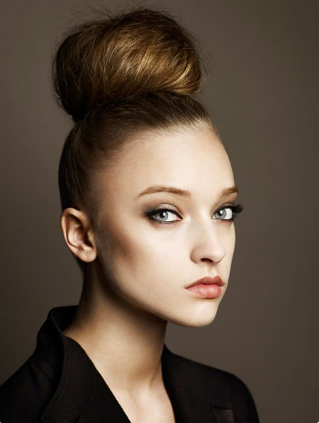 high bun natural hairstyles