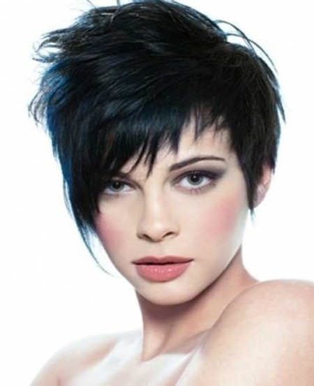 Long feathered pixie hairstyle short hairstyles for thick hair