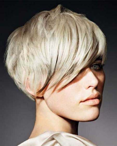 Long pixie with bangs hairstyle short hairstyles for thick hair