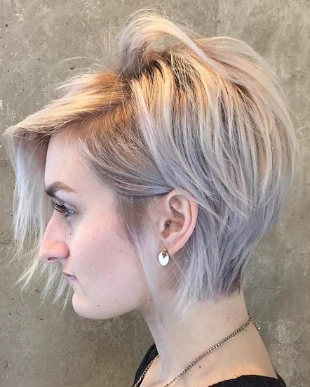 Long tapered pixie with side bangs choppy pixie cuts