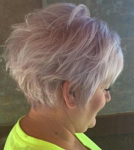 Lovely lavender haircuts for women over 50