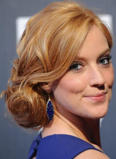 low side updos for short hair
