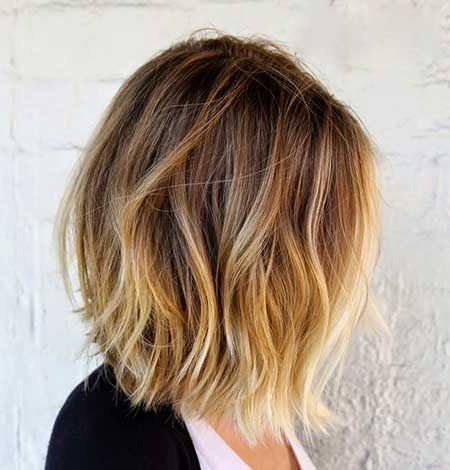 Medium brown ombre hair ideas for cropped locks