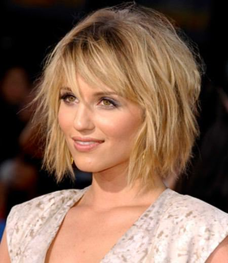 Messy shag with angled twist shaggy bob haircuts