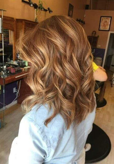 Mid length brown balayage natural curly hairstyles