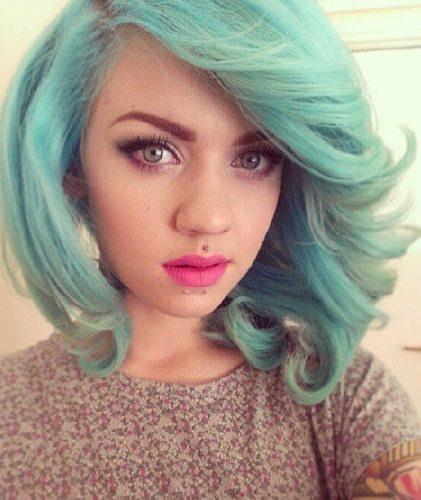 mint pastel trendy pastel hair color