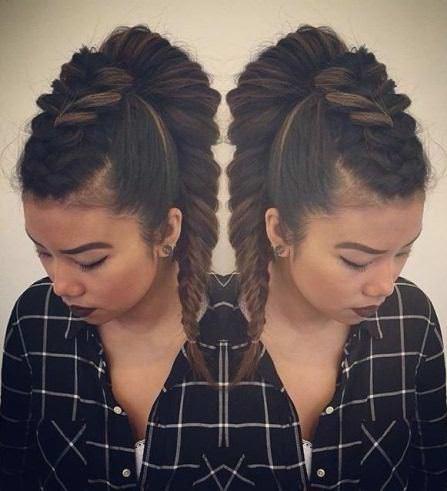 Mohawk inpired braid cute hairstyles for school