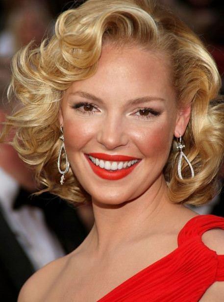 Monroe inpired curls wedding hairstyles for short hair