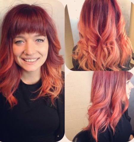 Outrageous orange winter hair colors