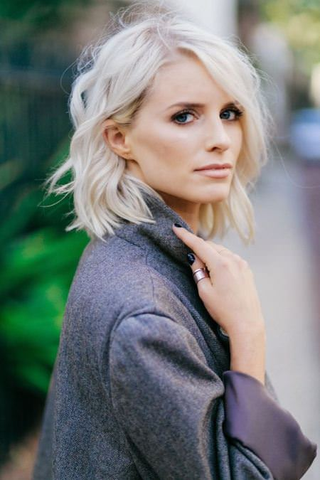 Platinum waves short wavy hairstyles for girls