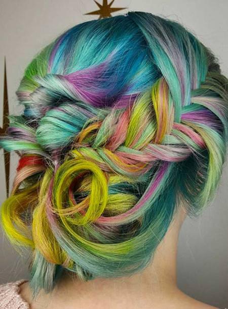 rainbow princess trendy pastel hair color