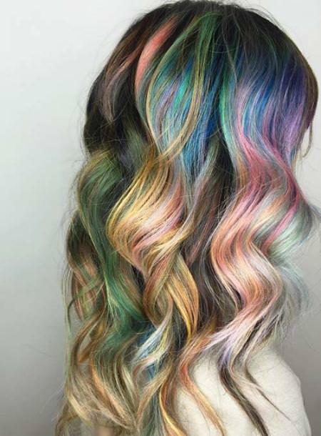 rainow pastel trendy pastel hair color