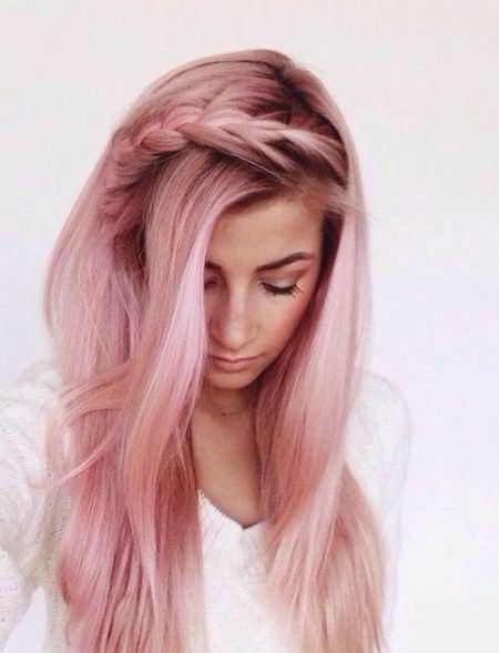 rosy pastel trendy pastel hair color