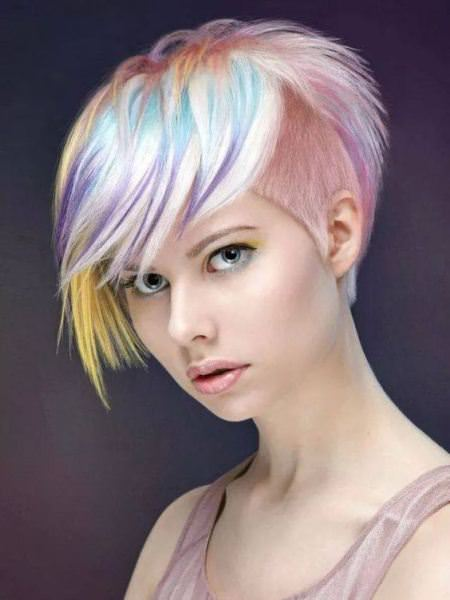 shaved-sides-with-colored-punk-hairstyles-for-women