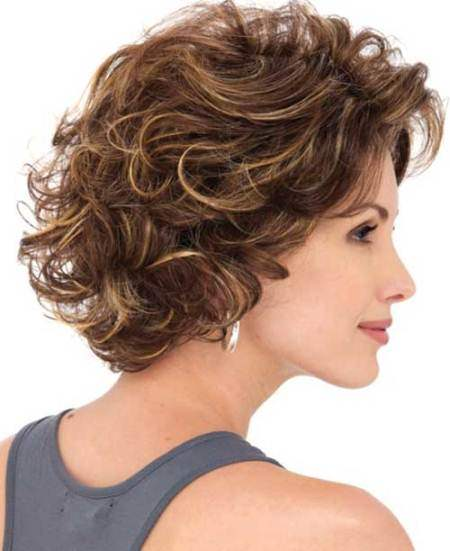 Short highlighted layered bob different short medium long hiarcuts for curly hair